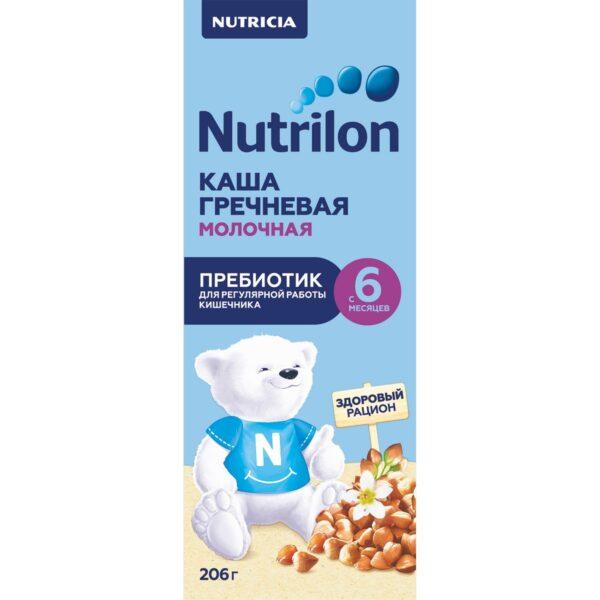 Нутрилон Каша жидкая молочная гречневая с пребиотиком с 6 месяцев, 206г
