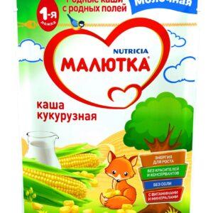 Малютка Каша молочная Кукурузная, 220г