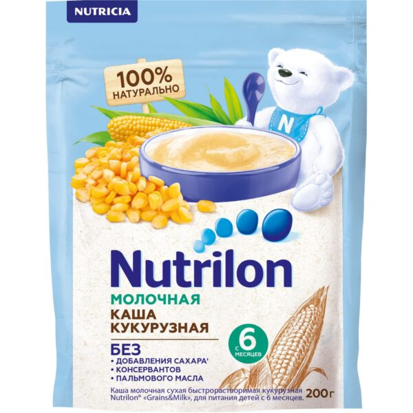Нутрилон Каша молочная Кукурузная, 200г
