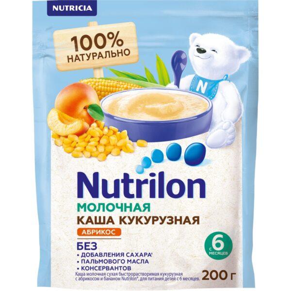 Нутрилон Каша молочная Кукурузная с абрикосом и бананом, 200г