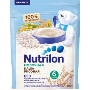 Нутрилон Каша молочная Рисовая, 200г